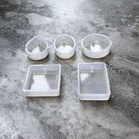 5 개 세트 물 방울 모양 에폭시 쥬얼리 금형 케이크 금형 투명 실리콘 곰 팡이 펜던트 DIY 말린 꽃 견본 도구