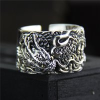925 sterling silver ring vintage Exaggerated personality men...
