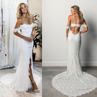 2018 Sexy Off Shoulder Lace Mermaid Wedding Dress Strapless ...
