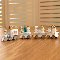 Christmas Wooden Xmas Train Santa Claus Festival Ornament De...