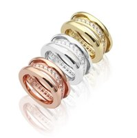 Hollow Titanium Stainless Steel &Single row Rhinestone Rings...