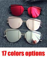 Fashion Cat Eye Sonnenbrille Frauen 2018 Neue Cat Eye Sonnenbrille Frauen Marke Designer Fashion Twin Beam Sonnenbrille Double-Deck-Legierung Rahmen UV400