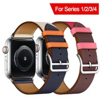 Bracelet Single Tour Genuine Leather Band For Apple Watch 40...