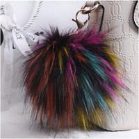 15 Colori New Fluffy Large 13cm Faux Fox Fur PomPom Ball Car Portachiavi ciondolo portachiavi ciondolo per le donne