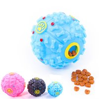 1 PCS Pet Dog Voice Sound Ball Toy Feeding Food Ball trumpet...