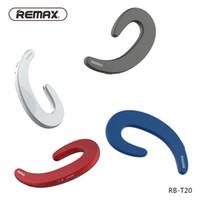 T20 remax 무선 블루투스 헤드폰 뼈 전도 이어폰 비 귀 무선 이어폰 헤드셋, 휴대 전화 용 마이크 포함