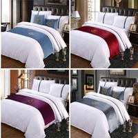 Wildleder Stickerei S Zeichen Doppelschicht Bett Läufer Schal Tagesdecke Bettdecke Hotel Bettwäsche Decor Single Queen King Size
