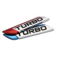 3D métal turbo turbo autocollant de voiture logo emblème badge décalcomanie voiture style bricolage accessoires de décoration pour frod bmw ford