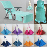 Portable Beach Chair Cover Serviette De Plage Microfibre Piscine Lounge Chair Couverture Couvertures Avec Bandoulière Serviettes De Plage Double Couche Couverture mk534