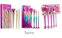 5 PC un sistema de cepillos del maquillaje de la marca conjuntos de cepillo cosméticos pincel de maquillaje unicornio de tornillo en espiral vástago herramientas de maquillaje 3 estilos