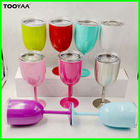 10oz Double Wall Insulated Stainless Steel Goblet Metal Wine...