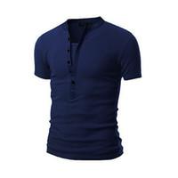 Мужские футболки Sexy Fashion City Мужской футболка Летняя мужская V-образным вырезом с короткими рукавами Верхняя одежда Slim Fit