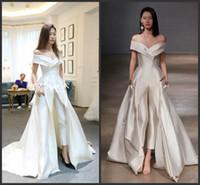 2020 새로운 여성 드레스 옷을 빌려와 긴 기차 화이트 이브닝 가운 오프 숄더 스위프 기차 우아한 주 헤어 무라드 드레스 Vestidos 축제