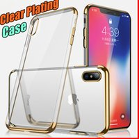 Luxury 3 in 1 Custodia trasparente in TPU trasparente per iPhone X 8 7 6 6S Samsung S6 S7 Edge S8 S9 Plus Nota 9 Note8 A6 A8 J2 Pro J4 J6 2018 J5 Prime