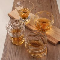 Lot Wine Glass Beer Whiskey lead- free thickened liquor cup f...