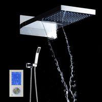 Display Digital Controlador de Chuveiro Inteligente Painel de Controle de Toque de Chuva Massagem Celling Cachoeira Termostato Do Banheiro Chuveiro Set