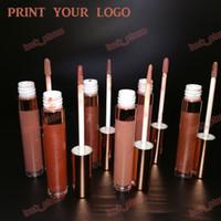 Piel profunda Fastic Adecuado No logo 6 color Lip Gloss Tamaño largo tubo 3 mate 3 brillo húmedo Bálsamo para labios Imprima su logotipo