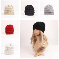 Warm Beanies Unisex Women Winter Knitted Wool Cap Girls Casu...