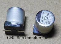 1000 unids 100uF 25v SMD SMT aluminio condensador electrolítico 25V 6 * 7mm original y nuevo