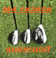 2018 New golf driver 3 # 5 # fairway woods con grafite rigido headcover / chiave 3pcs mazze da golf