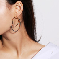 New Fashion Punk Silver Gold Tone Spiral Hoop Earrings For W...