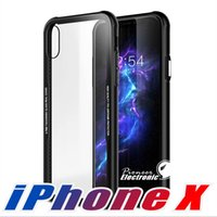 Premium Hybrid Silicone Hard Back TPU Tempered Glass Clear C...