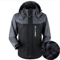 2018 Hommes Hiver épaissir Chaud Coton Manteau Alpinisme Costume Grande Taille Pizex 5XL À Capuche Patchwork Survêtement Vestes