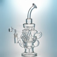 vortex bong recycler glass water pipes triple cyclone inline...