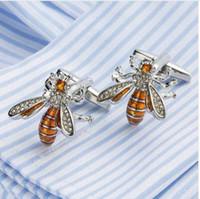 VAGULA New Enamel Bee 커프스 링크 남성용 프랑스 셔츠 커프스 단추 Creative Brass Gemelos 396