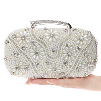Accessori da sposa Fashion Clutch Dating Banquet Hand with Solid Pearl Bag