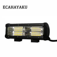1 Adet Yeni Çift Sıra 9inch 144W 6000K LED Light Bar Sel Işın İçin Offroad 4X4 Kamyon SUV İş Işık Bar 10-30V DC
