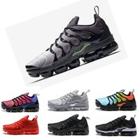 Air VaporMax Tn plus  max 2018 NEW TN Plus Olive in Metallic 12 Colorways Running Mens Shoes Sports Male Shoe Pack Triple Black TRIPLE WHITE