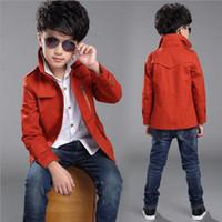 Ny vår höst pojkar jackor och rockar mode långa barn kappa stiliga barn ytterkläder kappa pojkar blazer