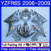 Cuerpo para YAMAHA Negro brillante caliente YZF R6 S R 6S YZF600 YZFR6S 06 07 08 09 231HM.12 YZF-600 YZF R6S YZF-R6S 2006 2007 2008 2009 Fairings Kit