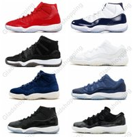 Con Box 11 Gym Red Chicago Midnight Navy WIN LIKE 82 96 Space Jam 45 Scarpe da basket da uomo 11s Sneakers sportive da uomo