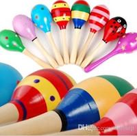 10 قطع الطفل خشخيشات لعبة طفل خشبي لطيف خشخيشات اللعب أورف الآلات الموسيقية التعليمية للأطفال اللعب شحن مجاني