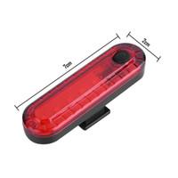 Luz recarregável USB traseira para bicicletas Ciclismo LED Taillight Waterproof cauda MTB Estrada Bike Light Voltar Lâmpada para Bicicleta