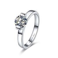 Классический бренд кольцо 1 карат синтетические алмазы обручальное женское кольцо обещание свадебные украшения для стерлингового серебра пасьянс кольцо