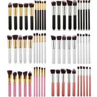 6 Style MINI Pinceaux De Maquillage Outils Ensembles 10 pcs Maquillage Pinceaux Set Professionnel Portable Plein Pinceau Cosmétique avec sac d'opp Livraison Gratuite