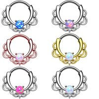 Nose Ring Milk Ring Nose Nail Opal Stone Alloy Inlaid Artifi...