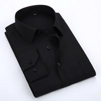 Nuevas camisas de primavera otoño para hombre camisa de vestir de manga larga clásica Formal de moda hombres de negocios camisa de hombre sólido camisa masculina
