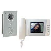 """4.3 """"Kit interphone vidéo pour moniteur de sonnette interphone vidéo en alliage d'aluminium"""