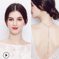 Gioielli da sposa ciondolo neckalce perla per catena calda della schiena taeesl matrimonio esente da trasporto
