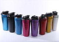 Самый дешевый!!! бутылка 32oz смесителя Blender чашки Трасучки протеина металла нержавеющей стали сплошного цвета с крышкой доказательства утечки