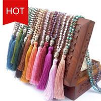 Nuevo Collar de Cristal Heat Buddha Pin Buda Cabeza colgante Bohemia Borlas Collar Colgante Collar de Diseñador de Moda