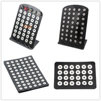 Black Pu Leather Acrylic Snap Button Stands Display Noosa Ch...