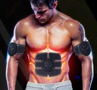 전기 EMS 복부 트레이너 근육 토너 팔 근육 복근 바디 스컬 프팅 운동 전자 근육 자극기 스마트