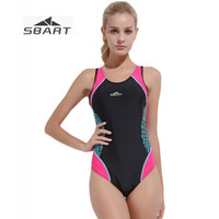 d5edf6d8e SBART New Lycra sin mangas niñas traje de baño profesional de una sola  pieza acolchado sexey body Summer Beach traje de baño más Siz