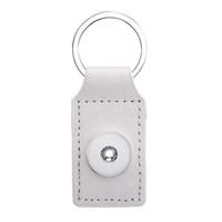 Nombreux Noosa Rectangle PU Cuir Snap bouton Porte-clés Snap Porte-clés fit BRICOLAGE 18 MM Snap Boutons porte-clés Cadeau porte-clés Bijoux