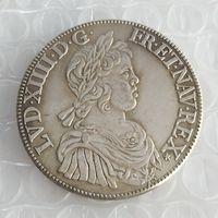 FRANKRIKE LOUIS XIV -1'ECU 1643 Kopiera mynt Brass Craft Ornaments Replica Coins Heminredning Tillbehör